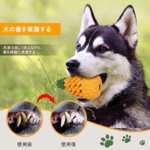 パイナップル型犬の噛むおおもちゃ